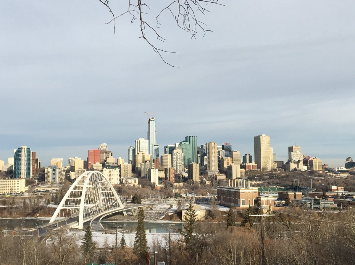 A view of downtown Edmonton from across the North Saskatchewan River on Nov. 20, 2018.