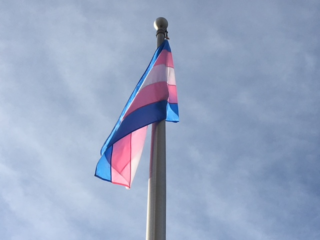 The Alberta government raised the Transgender Pride Flag on Nov. 20, 2018, to commemorate victims of violence who were attacked for identifying as transgender.