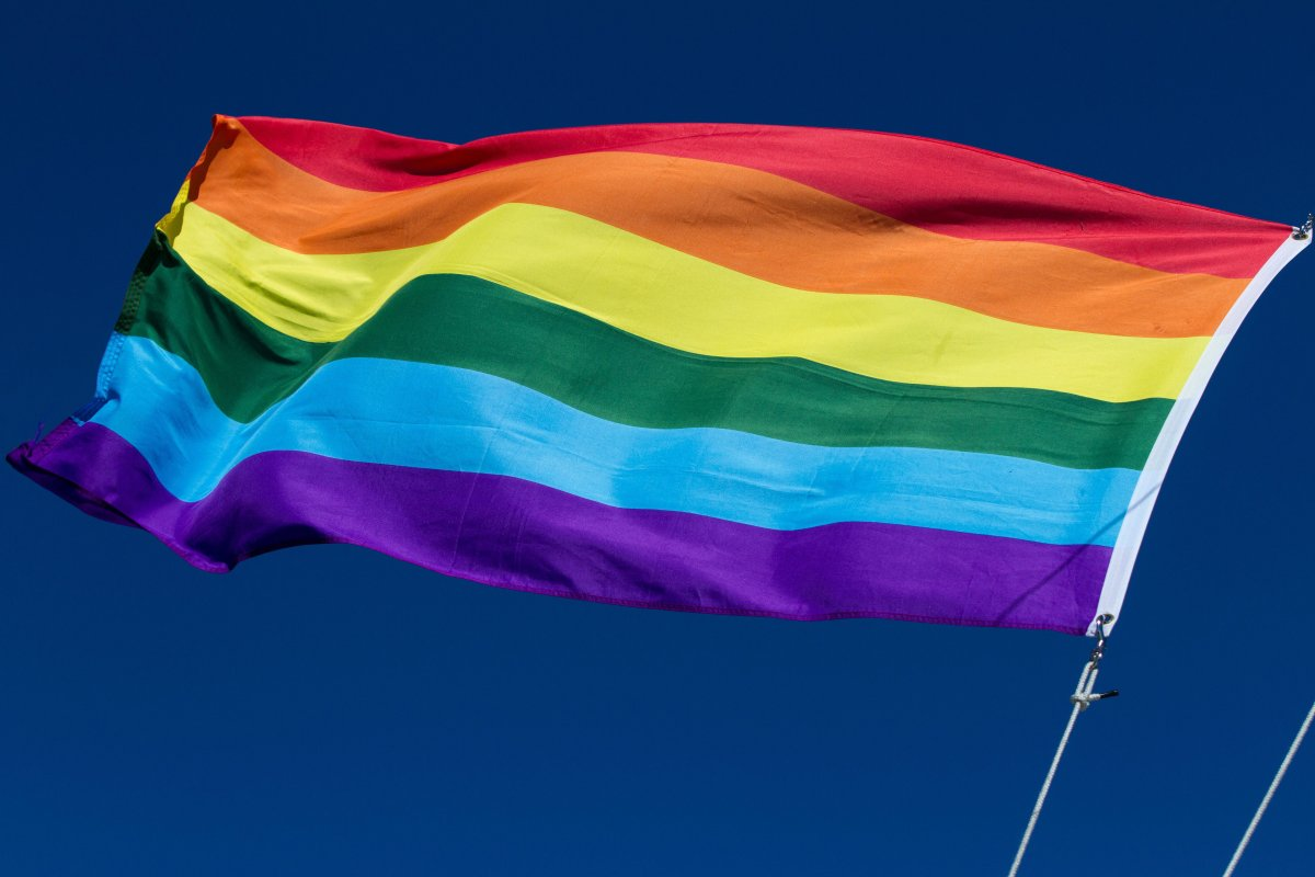 FILE - A pride flag flies on the Island Queen tourist boat in Kingston's harbour in Kingston, Ont., on June 13, 2016.