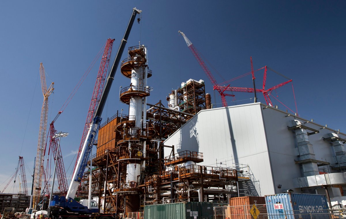 Construction of the North West Refining (NWR) Sturgeon Refinery in Redwater, Alberta on Aug. 30, 2016.