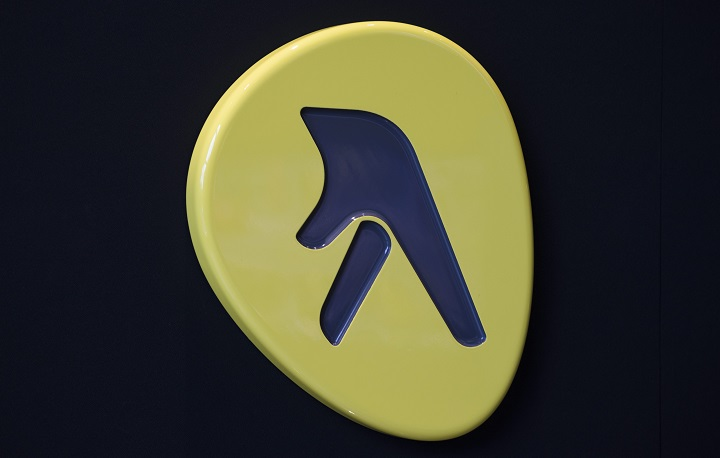 A Yellow Pages logo is shown at their offices in Montreal, Tuesday, June 16, 2015.