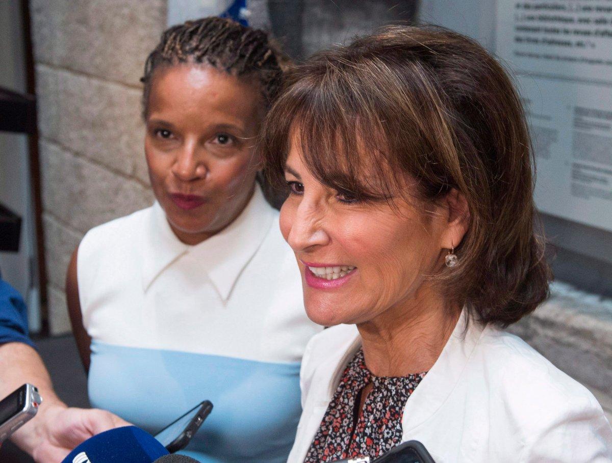 Tamara Thermitus, left, has stepped down as president of the Commission des droits de la personne et des droits de la jeunesse.