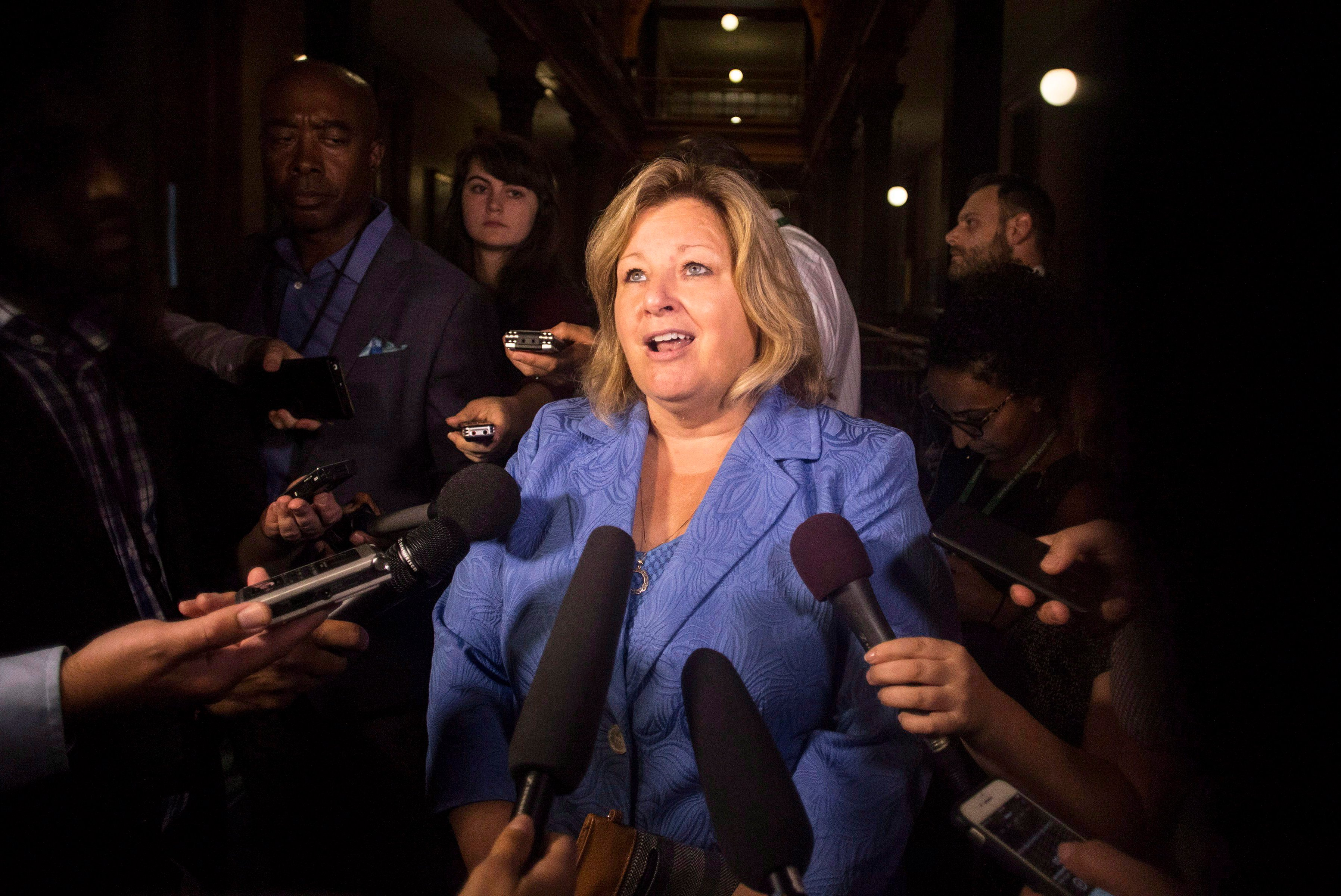 Lisa Thompson, Ontario's Minister of Education defends salary for Cameron Montgomery.