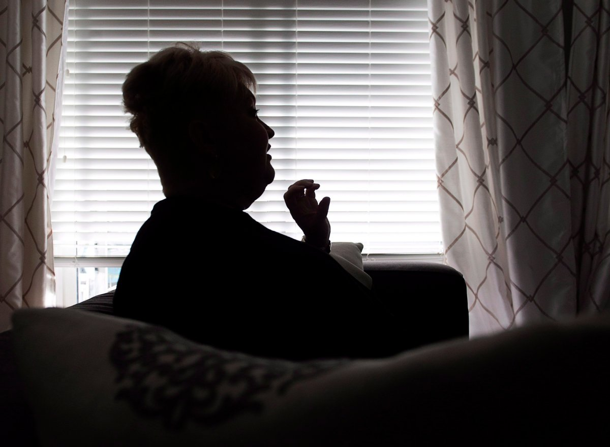 Audrey Parker, diagnosed with stage-four breast cancer which had metastasized to her bones and has a tumour on her brain, talks about life and death at her home in Halifax on Tuesday, Oct. 23, 2018.