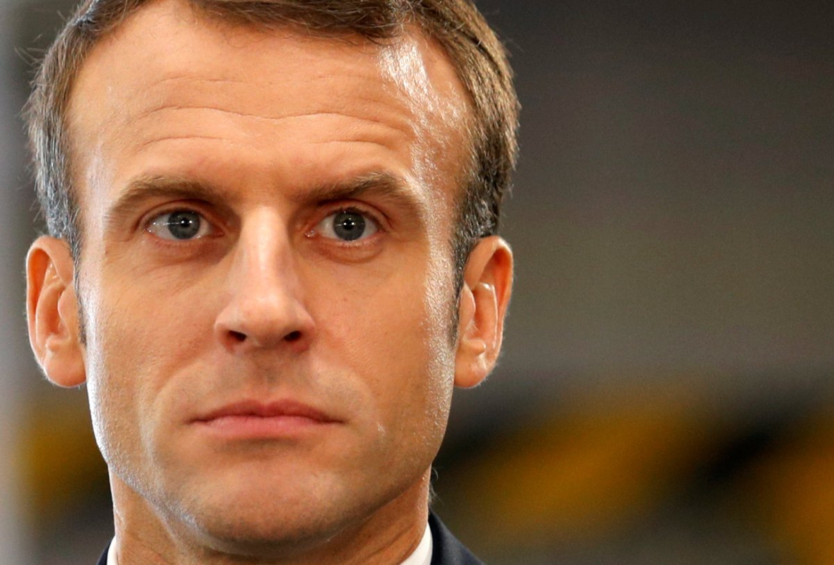 French President Emmanuel Macron visits the Renault Maubeuge Construction Automobile factory in Maubeuge, France, November 8, 2018.