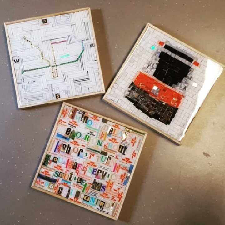 Nina Okens, a Toronto costume designer and artist, has been collecting metropasses for 20 years and is now using them to create art.