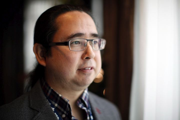Councillor Andrew Victor of Cheam poses for a photograph after speaking to the National Energy Board about traditional evidence from Indigenous groups as part of its review of the marine shipping impacts of the Trans Mountain pipeline at the Delta Hotels Victoria Ocean Pointe Resort in Victoria, B.C., on Monday, November 26, 2018.