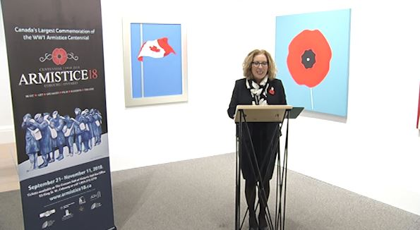 Peterborough-South MP Kim Rudd announces federal funding for the Town of Cobourg's Armistice 18 project.