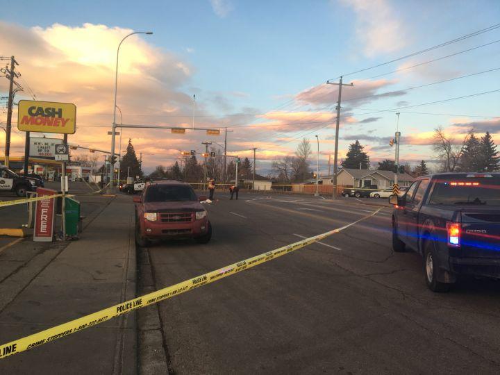 Calgary police investigate a pedestrian-vehicle collision in southwest Calgary on Thursday, Nov. 22.