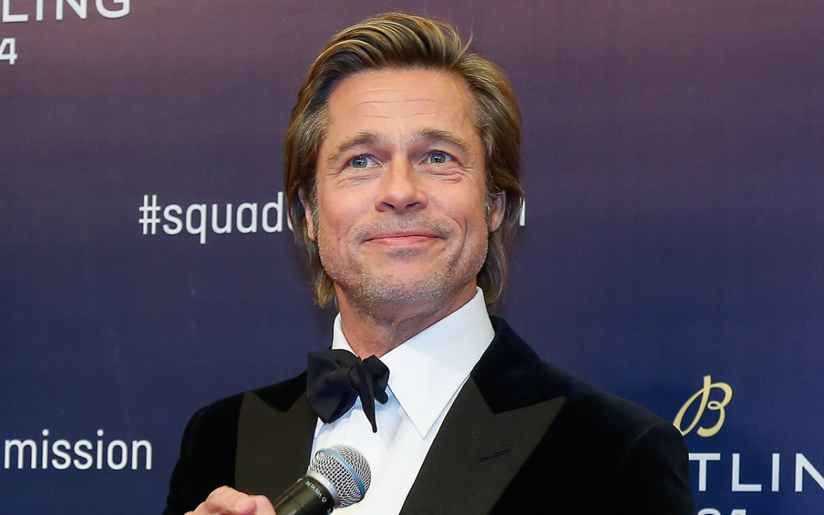 American actor Brad Pitt attends Breitling Squadona Mission event on November 20, 2018 in Beijing, China.