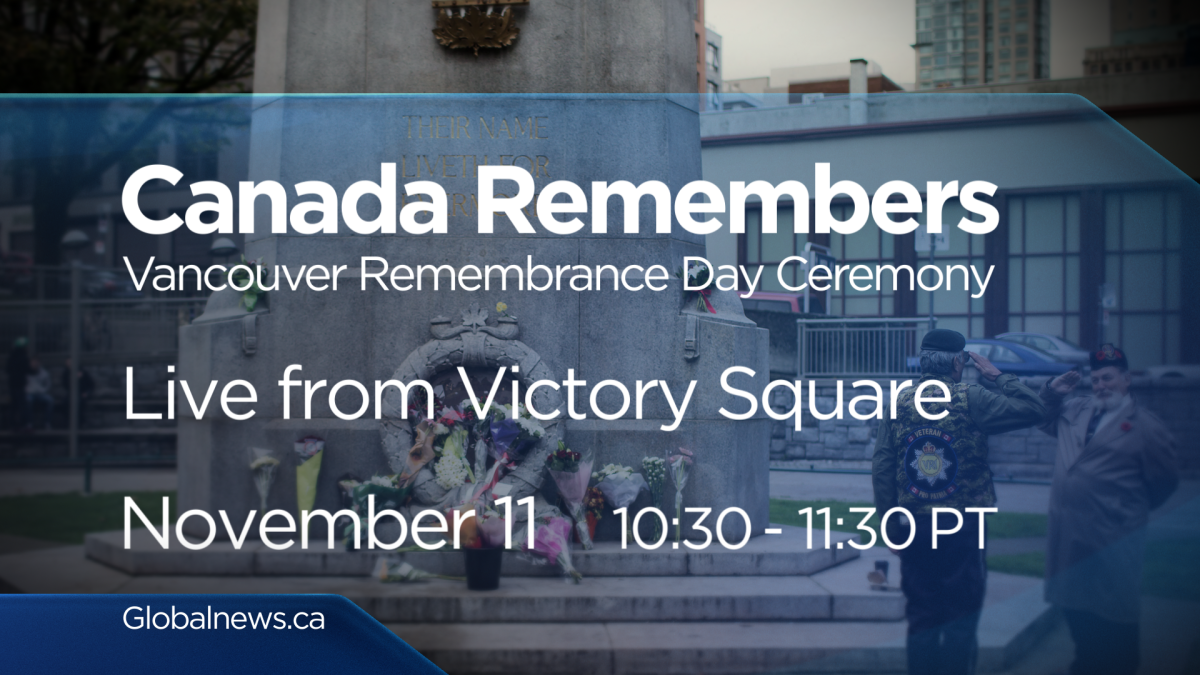 Join Global B.C. on Sunday, Nov. 11, 2018 for our special Remembrance Day coverage.