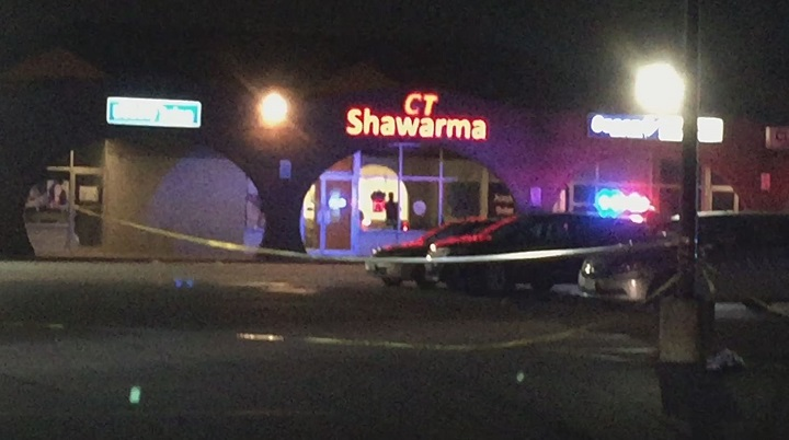 Police blocked off a large scene at a plaza on Champlain Boulevard Monday evening.