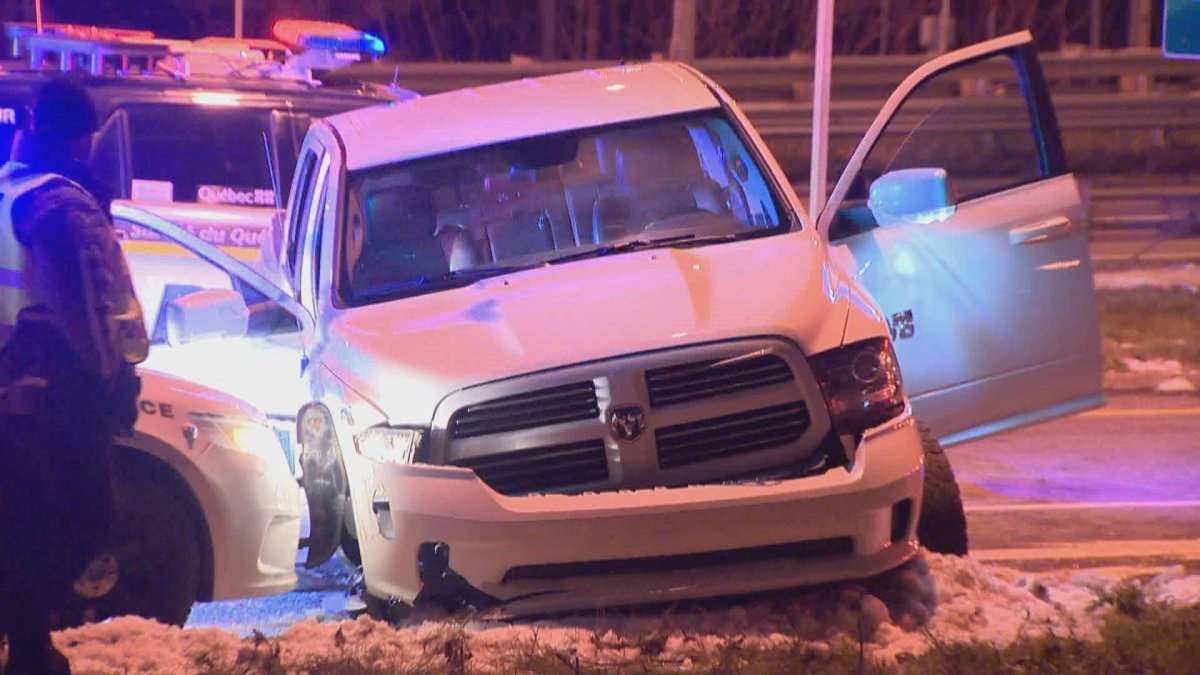 Overnight police car chase ends in crash.