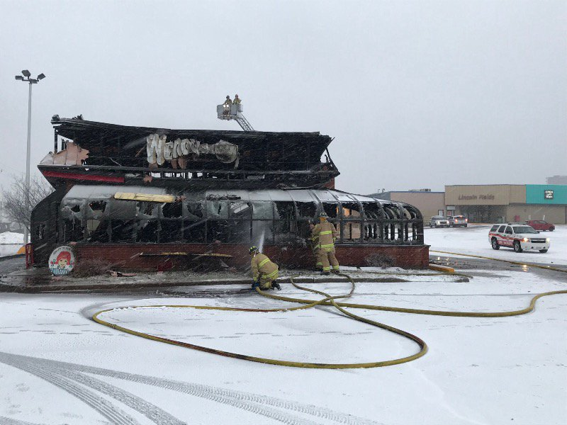 Ottawa police are investigating a suspected arson that ravaged the stand-alone Wendy's restaurant at the Lincoln Fields Shopping Centre early Tuesday morning.