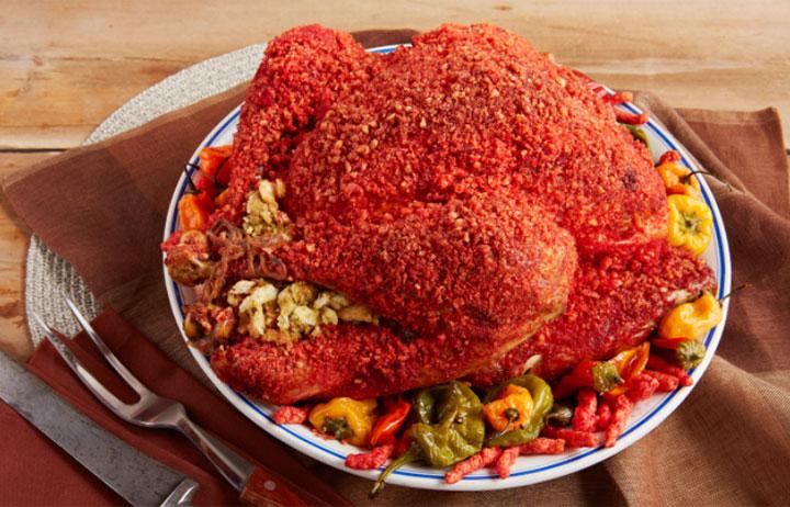 Hot Cheetos turkey recipe from kitchen wrap maker Reynolds.