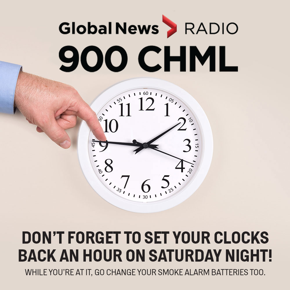 On November 4, don't forget to put your clocks back one hour and change the batteries in your smoke alarms.