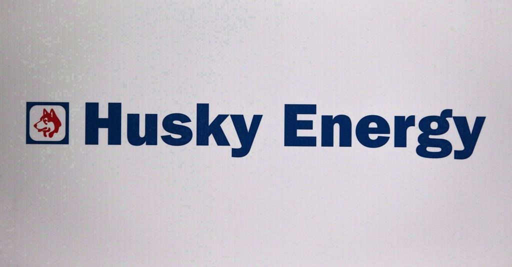 TheHusky Energy logo is shown at the company's annual meeting in Calgary, Alta., Friday, May 5, 2017.