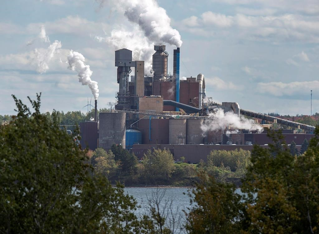 The Northern Pulp Nova Scotia Corporation mill is seen in Abercrombie, N.S. on Wednesday, Oct. 11, 2017. A Nova Scotia pulp mill is asking for public support for more time to build an effluent pipeline to the ocean, even as one of province's best-known Hollywood actors retweets comments critical of the plant.