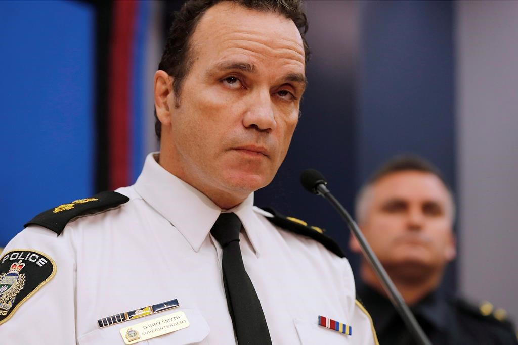 Winnipeg Police Superintendent Danny Smyth attends a press conference in Winnipeg Wednesday, November 12, 2014.
