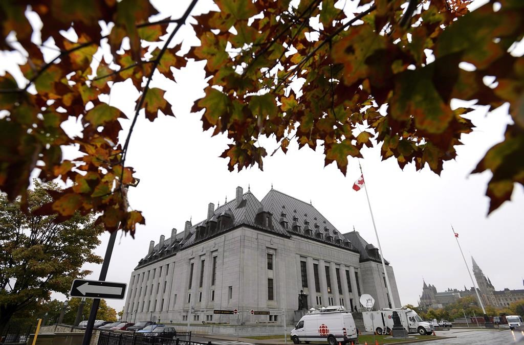 The Supreme Court of Canada is seen in Ottawa on October 11, 2018.