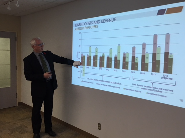 Doug Jones, president and CEO of WorkSafeNB explains the reasoning behind a big spike in New Brunswick employer assessment rates for 2019.