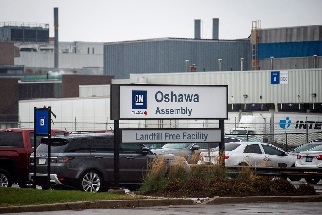 The Oshawa's General Motors car assembly plant in Oshawa, Ont., Monday Nov 26 , 2018.