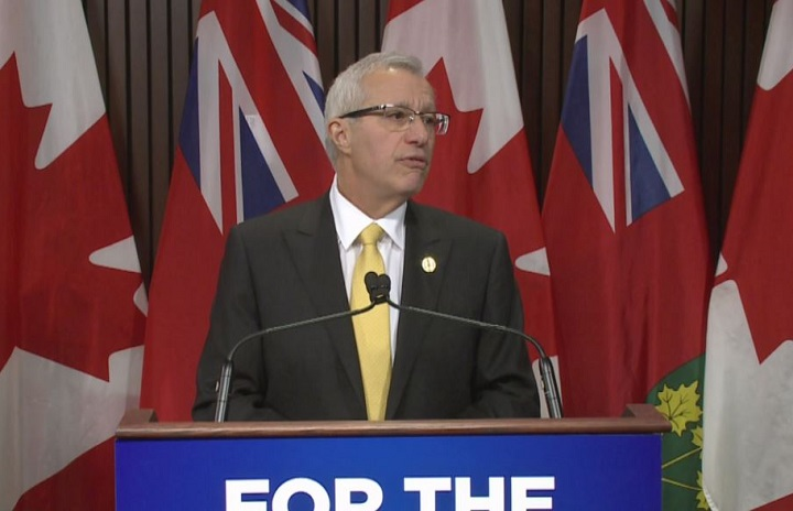 Ontario finance minister Vic Fedeli announced $15 million will be split to the province's municipalities to help cover cannabis costs in January.
