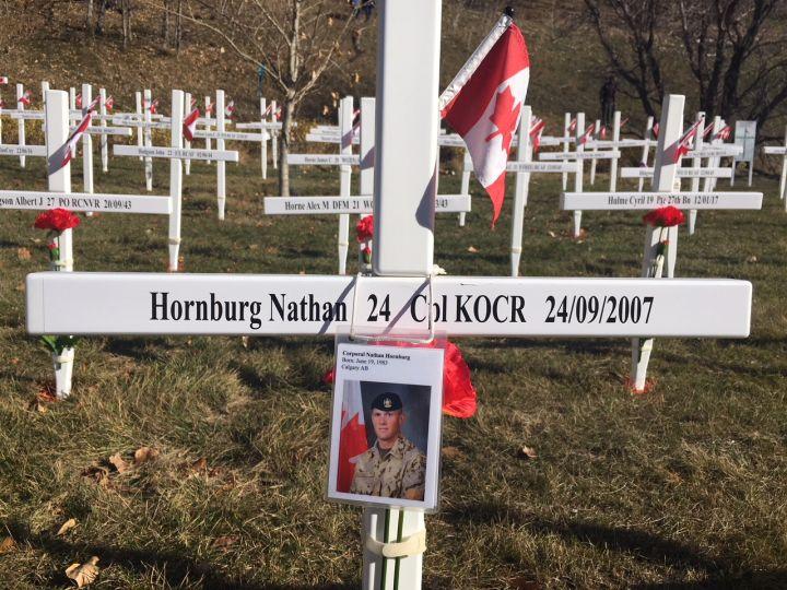 Field of Crosses memorial in Calgary, Alta, pictured on Nov. 6, 2018.