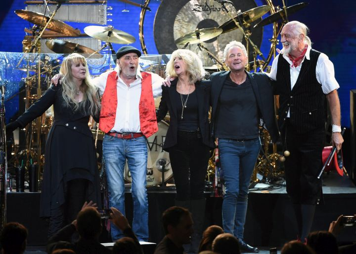 Fleetwood Mac band appear at the 2018 MusiCares Person of the Year tribute honoring Fleetwood Mac in New York.