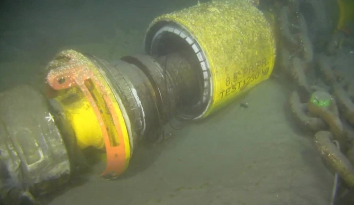 Husky Energy says this disconnected pipe is what cause the largest Oilspill in Newfoundland History .