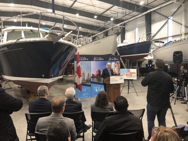 Transport Minister Marc Garneau has announced a $17.7-million federal investment in Hamilton's port lands.