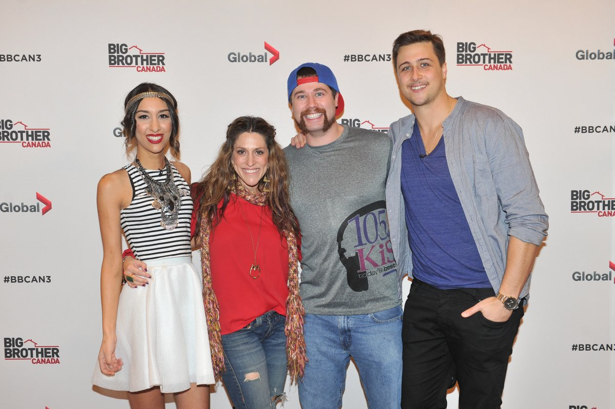 Neda Kalanter, Robyn Kass, Arlie Shaban and Jon Pardy attend Shaw Media And Insight Productions Wrap 'Big Brother Canada' National Casting Tour In Toronto at Metro Toronto Convention Centre on Nov. 23, 2014 in Toronto, Canada.