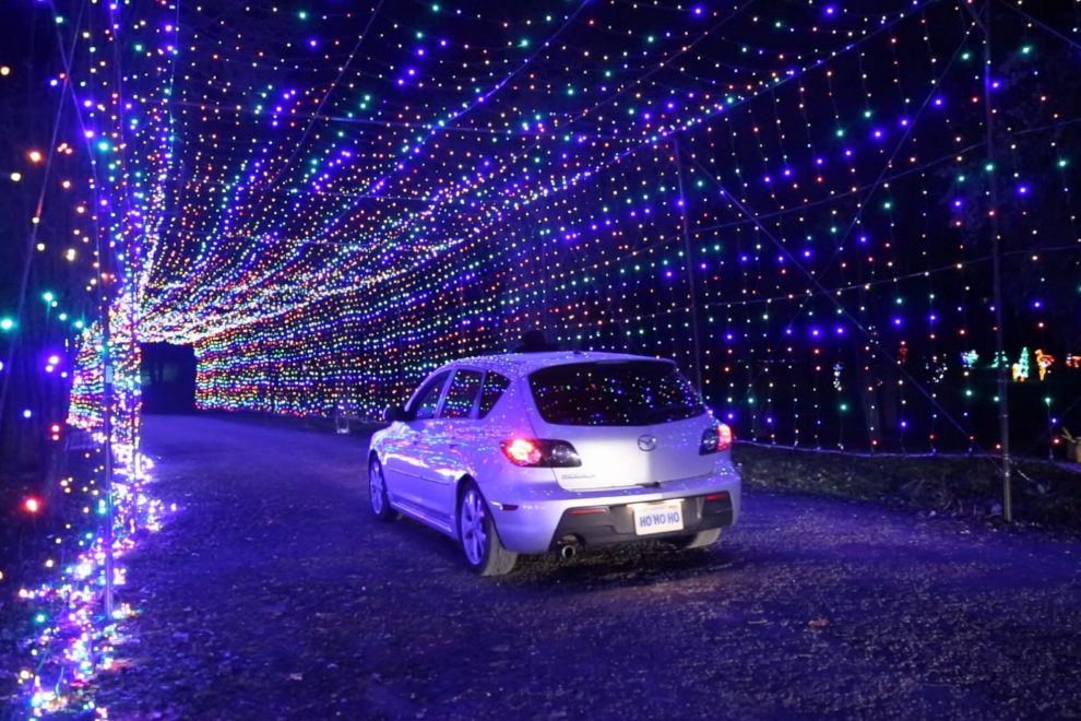 The Gift of Lights features two tunnels you can drive through.