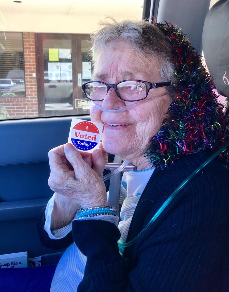 Gracie Lou Phillips had never voted in her life before that day, when her granddaughters took her to an early polling station in Grand Prairie.