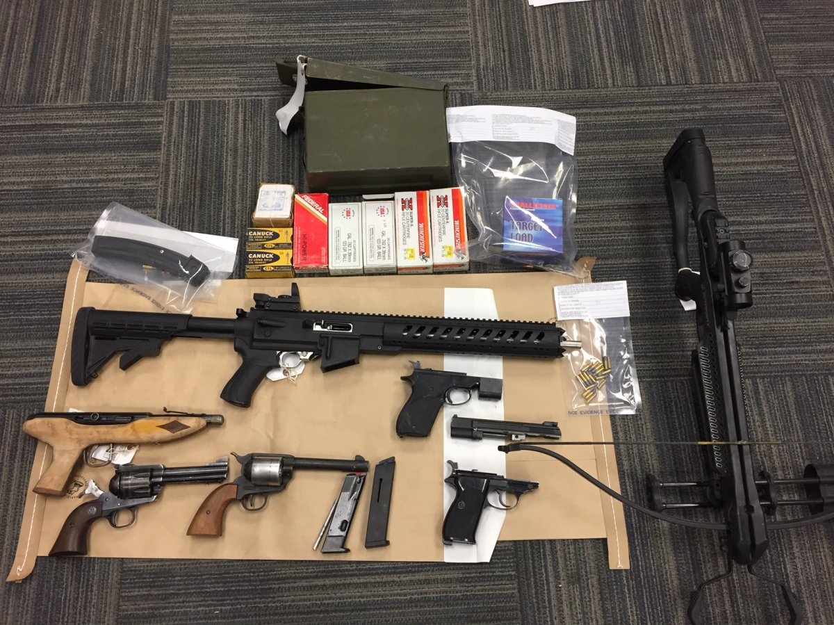 RCMP seized drugs and weapons from a residence in Penticton following a two-week investigation into drug trafficking.