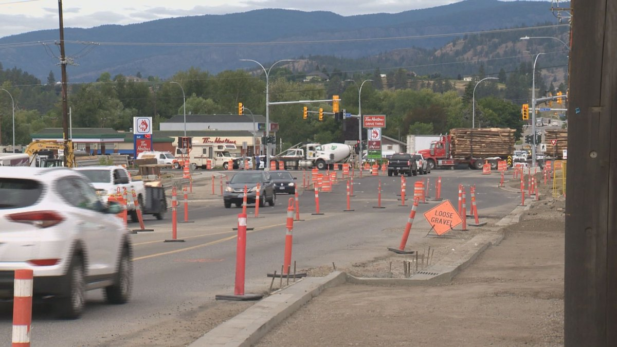 Construction widening Highway 97 between Edwards Road and Highway 33 began in April 2016.