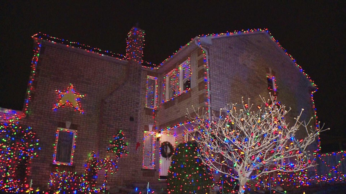 Barb and Harry Piwerka have strung thousands of lights at their home on Fencerow Drive, and they're encouraging those who visit it to bring donations for the animals at the Humane Society.