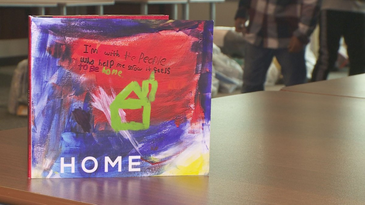 The adopted children featured on the song 'Home,' which debuted Tuesday night in Oshawa, Ont., also helped create the cover art for the track.