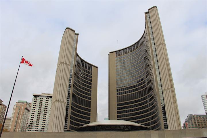 A file photo of Toronto city hall.