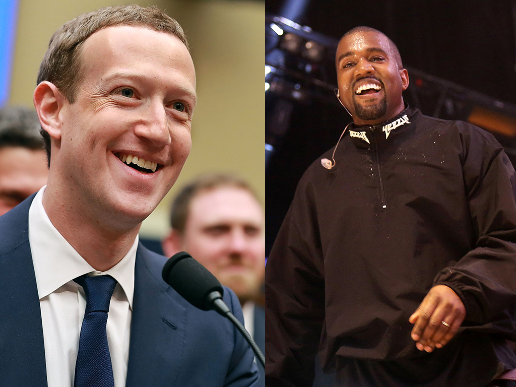 (L-R) Mark Zuckerberg and Kanye West engaged in a karaoke session together on Nov. 14, 2018.