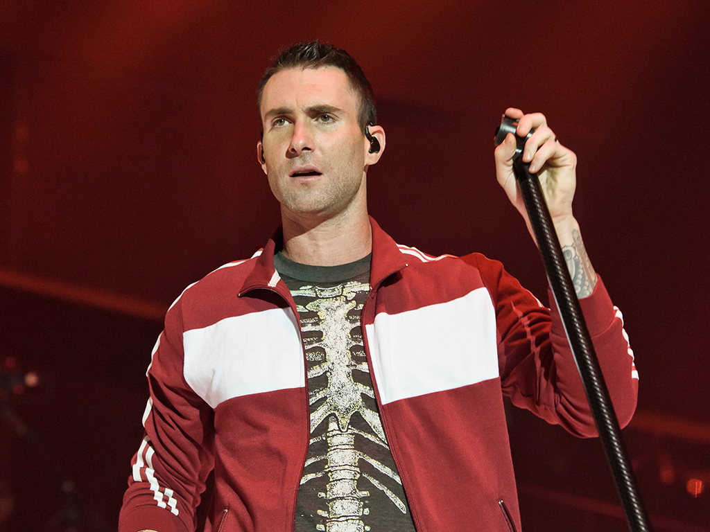 Adam Levine of Maroon 5 performs at Wembley Arena on May 26, 2015 in London, England.
