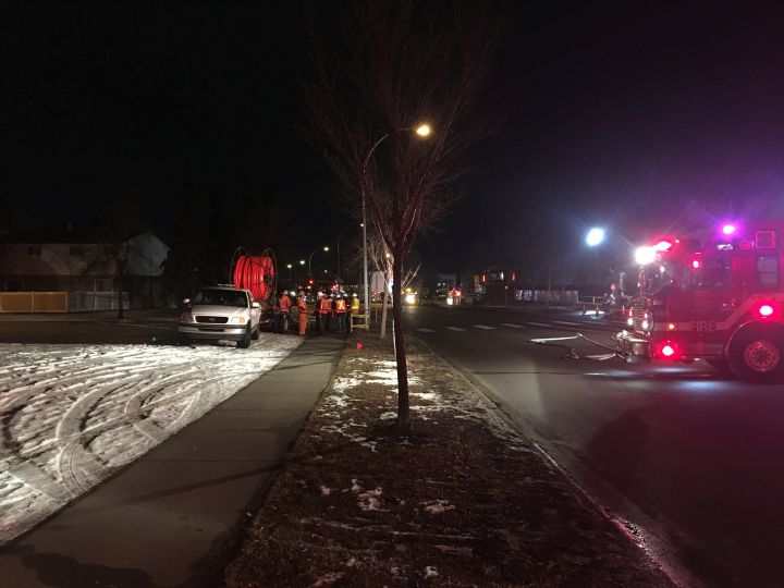 Edmonton Fire Rescue Services said nearly a dozen townhomes in Mill Woods were evacuated Tuesday afternoon after reports of a gas leak.