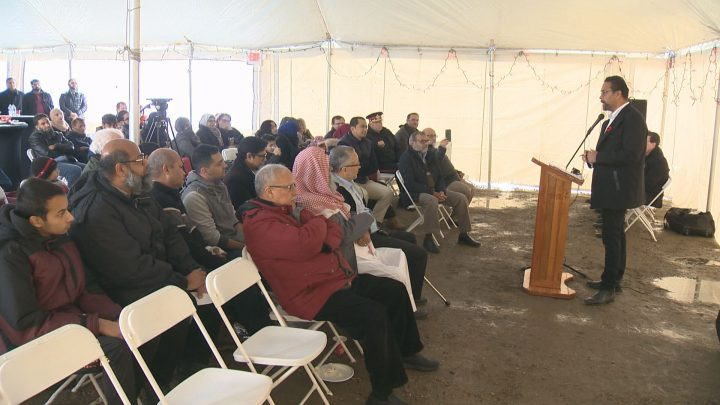 Munir Haque, president of the Islamic Association of Saskatchewan, said the excitement has been growing in the Muslim community for a while and he's looking forward to the completion of a new mosque.