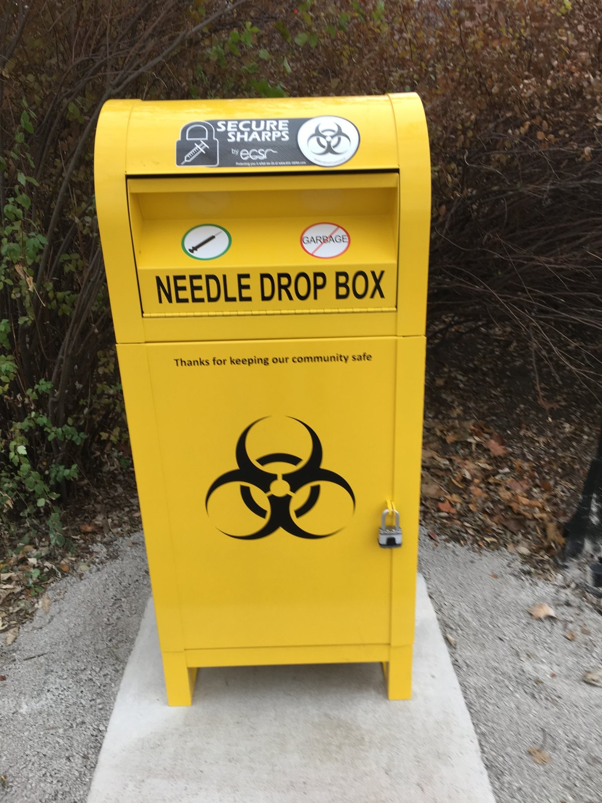 Four new needle drop boxes have been setup in downtown Peterborough.