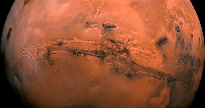 Early Mars was covered in ice rather than warm, free-flowing rivers, new study shows