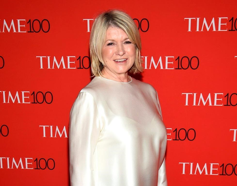 FILE - In this April 24, 2018, file photo, Martha Stewart attends the Time 100 Gala celebrating the 100 most influential people in the world in New York.