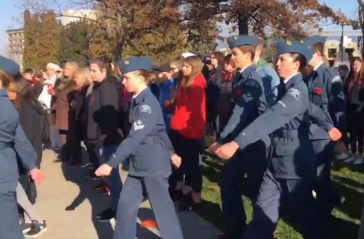 Hundreds of high school students took in an early Remembrance Day ceremony at Gyro Park in Penticton on Thursday morning.