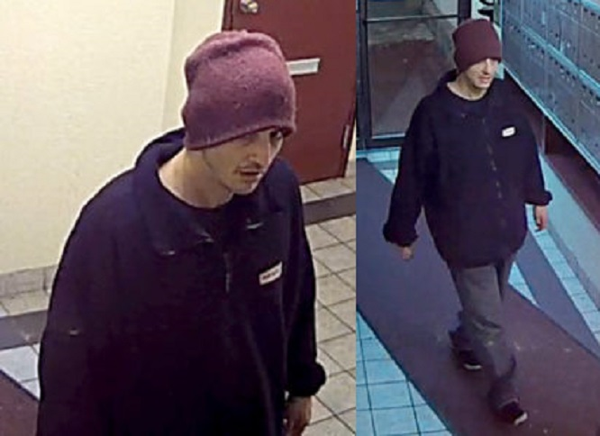 Vancouver police are looking for this man captured in security footage.