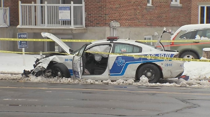 A woman was seriously injured after being struck by a police cruiser. Saturday, Nov. 17, 2018.