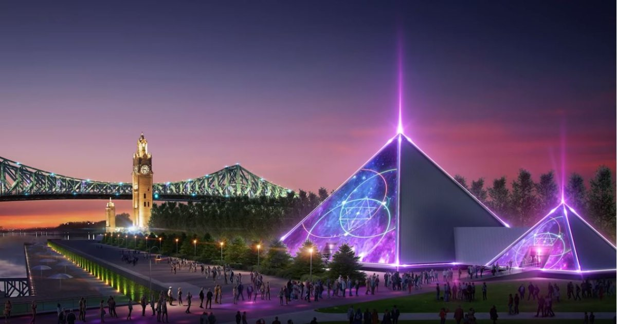 A rendition of PY1, a pyramid-shaped venue that will be located in Montreal's Old Port. Sunday November 4, 2018.